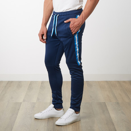 Tri-stripe Track Pants // Navy (S)
