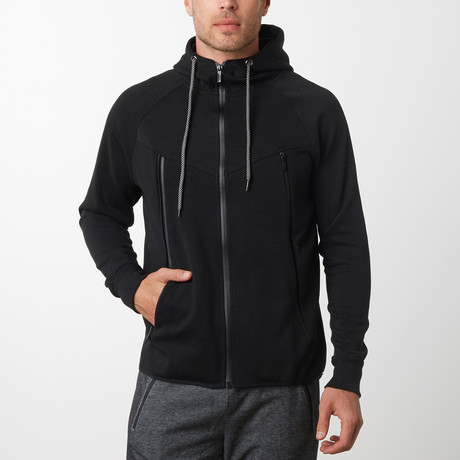 Tech Fleece Black Seal Zipper Hoodie // Black (S)