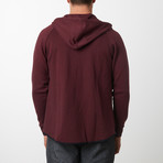 Tech Fleece Black Seal Zipper Hoodie // Burgundy (M)