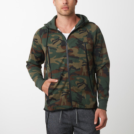 Tech Fleece Black Seal Zipper Hoodie // Camo (S)