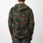 Tech Fleece Black Seal Zipper Hoodie // Camo (L)