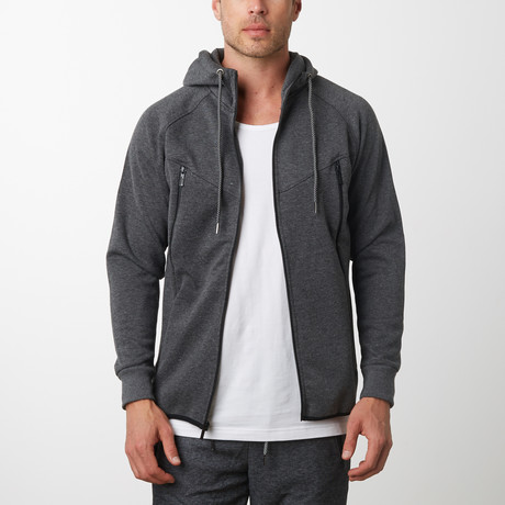 Tech Fleece Black Seal Zipper Hoodie // Charcoal (S)