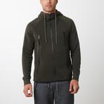 Tech Fleece Black Seal Zipper Hoodie // Olive (S)