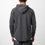 Tech Fleece Black Seal Zipper Hoodie // Charcoal (XL)