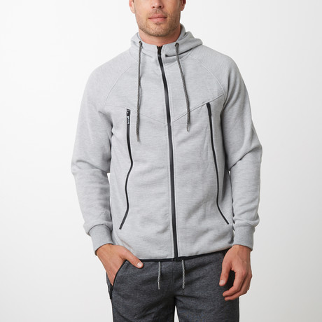 Tech Fleece Black Seal Zipper Hoodie // Heather Gray (S)