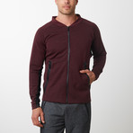 Tech Fleece Full Zip Up Cardigan // Burgundy (XL)