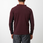Tech Fleece Full Zip Up Cardigan // Burgundy (L)