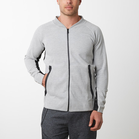 Tech Fleece Full Zip Up Cardigan // Heather Gray (S)