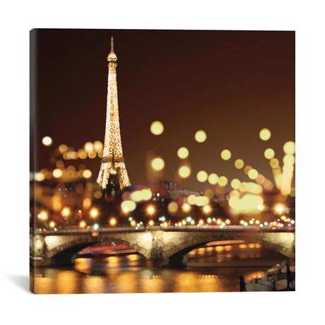 "City Lights-Paris // Kate Carrigan (18""W x 18""H x 0.75""D)"