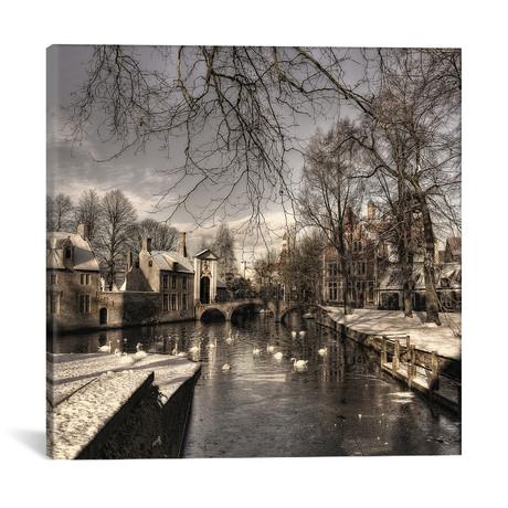 """Bruges In Christmas Dress // Yvette Depaepe (18""""W x 18""""H x 0.75""""D)"""