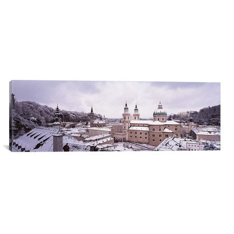 "Dome Salzburg Austria // Panoramic Images (12""W x 36""H x 0.75""D)"