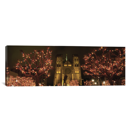 "Facade Of A Church, Grace Cathedral // San Francisco, California // Panoramic Images (12""W x 36""H x 0.75""D)"