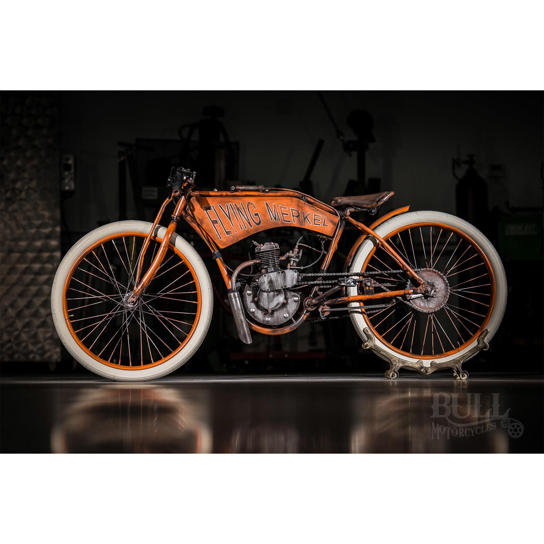 Flying Merkel Board Track Racer    Tribute Bike - Bull Cycles ... 73d5258bf