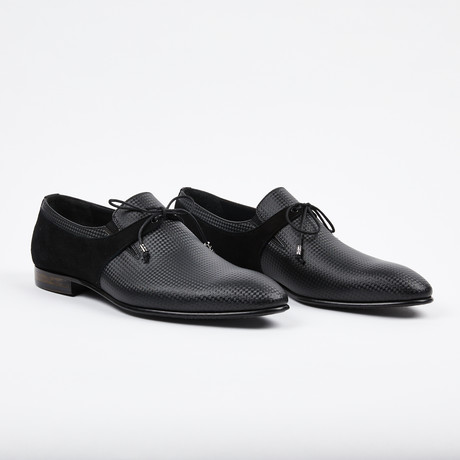 Formal Suede + Leather Shoe // Black (US: 7)