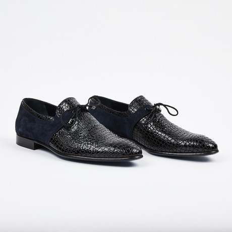 Formal Suede + Leather Shoe // Navy (US: 7)
