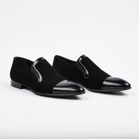 Cap Toe Loafer // Black (US: 7)