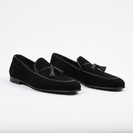 Tassel Loafer // Black Suede (US: 7)