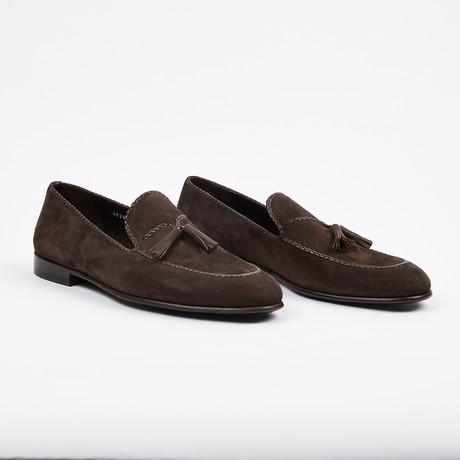 Suede Tassel Loafer V2 // Brown (US: 7)