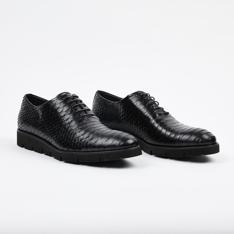 Python Lace Up Casual Shoe // Black (US: 7)