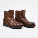 Zipper Boot + Ostrich Design Toe // Brown (US: 8)