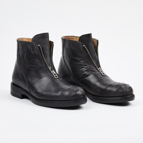 Zipper Boot + Ostrich Design Toe // Gray (US: 7)