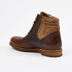 Wing Tip Lace up Boot // Brown (US: 7)
