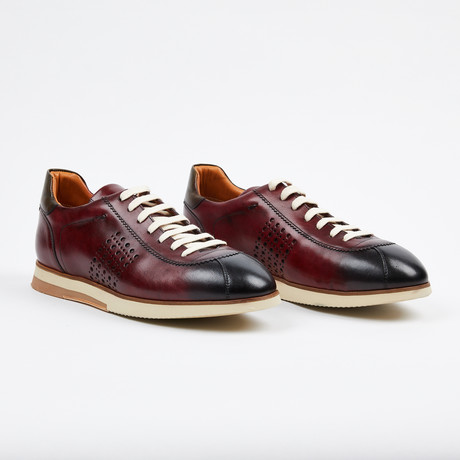 Hand Finish Dress Sneaker // Burgundy (US: 7)