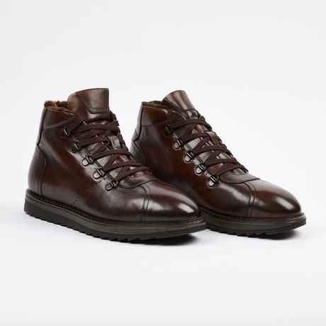 Lace Up Boot + Fur Lining // Tobacco (US: 7)