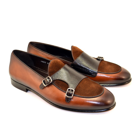 Double Buckle Loafer + Suede Vamp // Brown (US: 7)