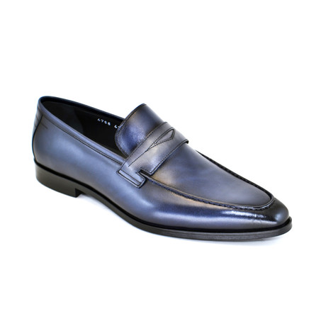 Penny Loafer Dress Shoe // Navy + Gray (US: 7)