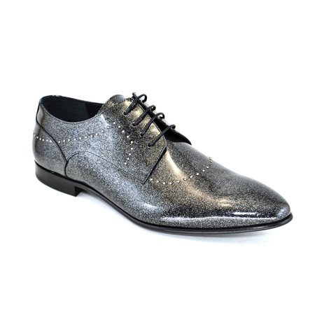 Shiny Formal Shoe + Studs // Gray + Black (US: 7)