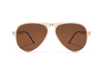 ROAV Super-Thin Folding Sunglasses Atlas // Gold + Brown by Touch Of Modern - Denver Outlet