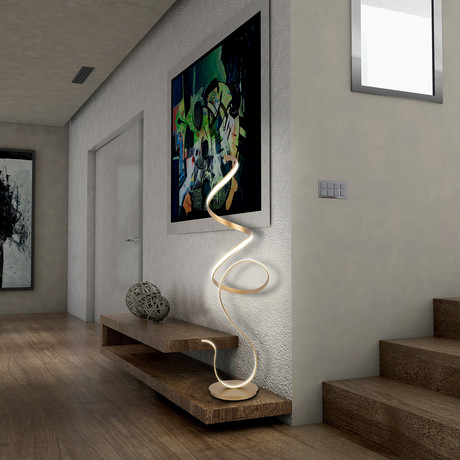 Sculpta Floor Lamp Gold