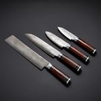 Damascus Kitchen Knives // Set of 4 // KH-80