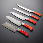 Damascus Kitchen Knives // Set of 5 // KH-86