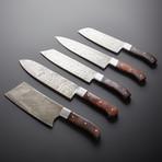 Damascus Kitchen Knives // Set of 5 // KH-84