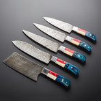 Damascus Kitchen Knives // Set of 5 // KH-85