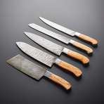 Damascus Kitchen Knives // Set of 5 // KH-88