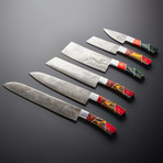 Damascus Kitchen Knives // Set of 6 // KH-89