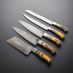 Damascus Kitchen Knives // Set of 5 // KH-91
