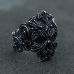 Skull + Floral Ornament (9)