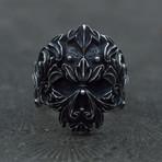 Skull + Floral Ornament (7)