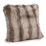 "Limited Edition Faux Fur Pillow // Silver Fox // 18""L x 18""W"