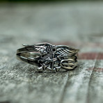 Navy Seals Eagle Trident Ring (8.5)