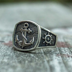 Anchor Signet Ring (8.5)