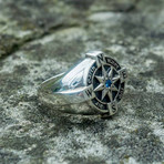 Compass Ring + Cubic Zirconia (8)