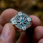 Compass Ring + Cubic Zirconia (10)