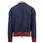 Bally // Leather Reversible Zip-Up Bomber Jacket // Red (Euro: 52)