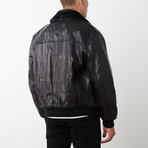 Aviator Bomber II Jacket // Black (L)