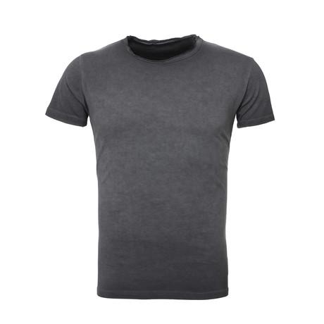 Oil Wash T-Shirt // Black (S)